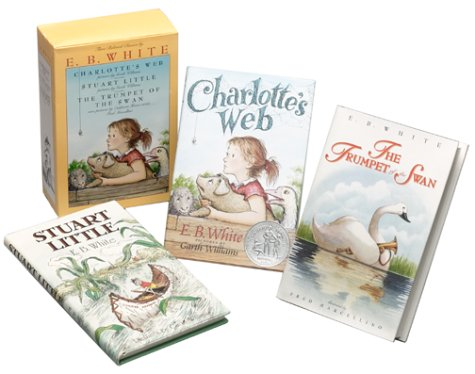 Three Beloved Classics by E.B. White: Charlotte's Web, Stuart Little, and The Trumpet of the Swan (Boxed Set) by HarperColl (Image #1)