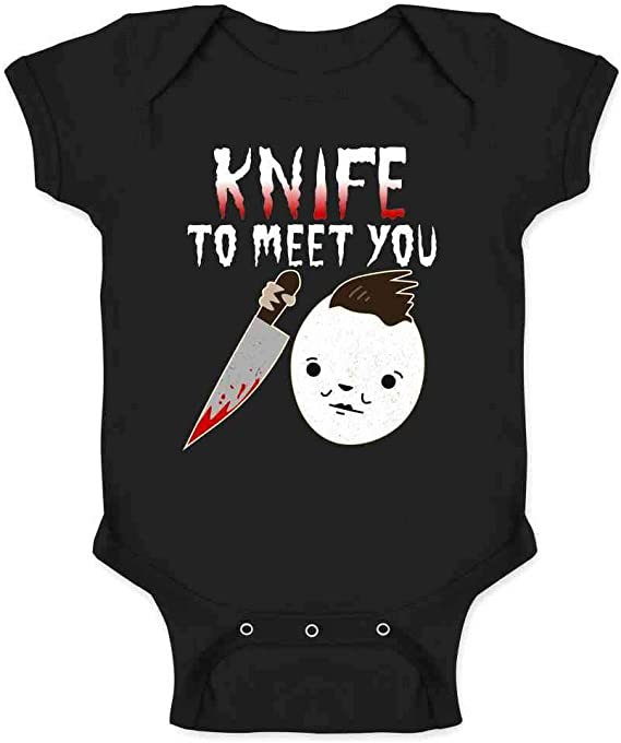 Halloween Scary Michael Myers Soft and Comfortable Short Sleeve Baby Bodysuit