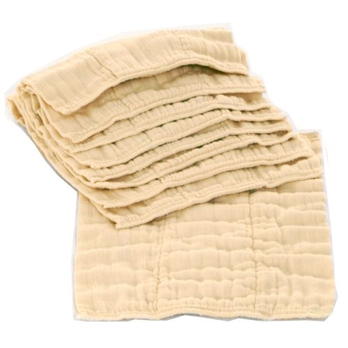 Image: OsoCozy Prefolds Unbleached Cloth Diapers | Soft, Absorbent and Durable 100% Indian Cotton Natural Diapers | Highest Quality | Best-Selling Cloth Diapers Sold Online