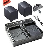 BM Premium 2 BP820 Batteries and USB Dual Battery Charger for Canon VIXIA GX10, XF400, XF405 HFG20, HFG30, HFG40, HFM41, HFM400, HFS21, HFS30, HFS100, HFS200, HF200, HG21, XA10, XA20, XA25, XA30, XA35