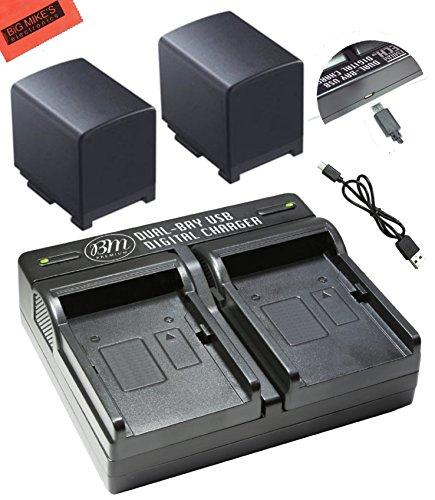 BM Premium 2 BP-820 Batteries and Dual Battery Charger for Canon VIXIA GX10, HFG20, HF G21, HFG30, HFG40, HFM30, HFM31, HFM32, HFM300, HFM301, HFM41, HFM400, XA10, XA11, XA15, XA20, XA25, XF400, XF405