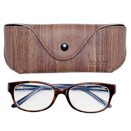 Boshiho Soft Leather Reading Glasses Eyeglass Case Sunglasses Holder for Men and Women - Sunglasses Walmart Foldable