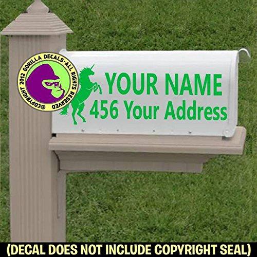 UNICORN Custom Mailbox Set Vinyl Decal Sticker F
