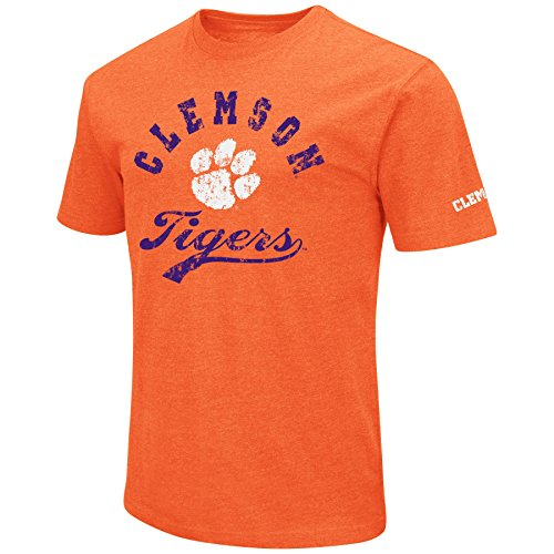 - NCAA Colosseum Men's Vintage Retro Dual-Blend T-Shirt-Clemson Tigers-Orange-XL