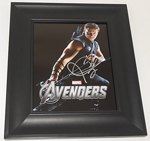 The Avengers Jeremy Renner Hand Signed Autographed 8x10 Glossy Photo Gallery Framed Loa