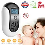 Mosquito Repellent, Electronic Ultrasonic Pest Repeller Variable Frequency Mouse Pest Repellent Effective Indoor Home Plug-in Bug Repellent Pest Control for Wasp Squirrel Roach Rodent Bedbug