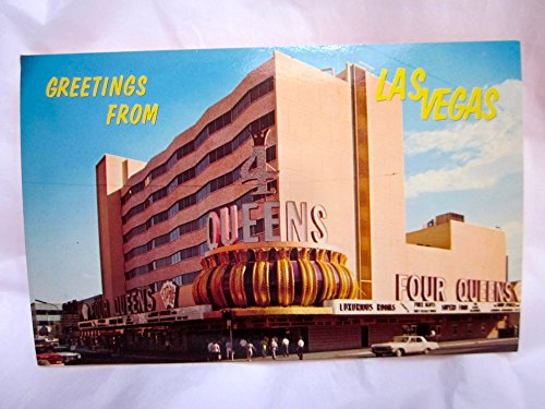 Vintage Postcard: Greetings from Las Vegas Four Queens 1960s ()