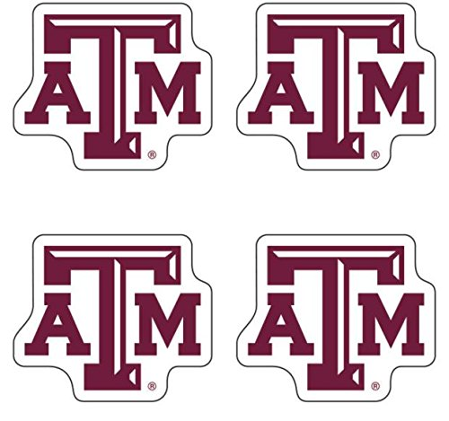 Texas A&M NCAA Fan-A-Peel Temporary Tattoo 4 Pack
