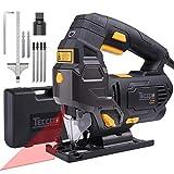 Jigsaw Tool, TECCPO 800W 3000SPM Jig Saw with Laser Guide, 6 Blades,...
