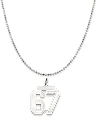 Sterling Silver Medium Satin Number 8 Charm
