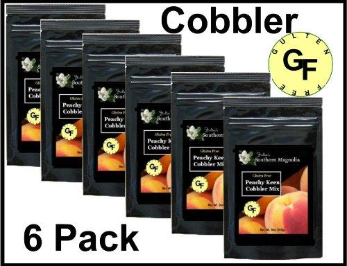 Gluten Free Peach Cobbler Mix 9oz Bag (Case of 6) by Julia's Southern Magnolia