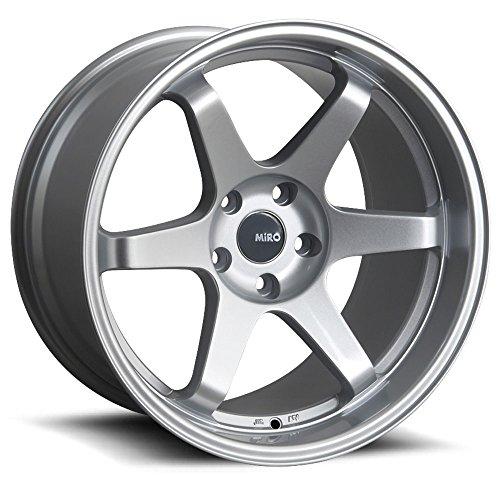 MiRo 398 18 x 8.5/9.5 Staggered 5x100 Silver 6 spoke concave 4 Wheels Rims SET ()
