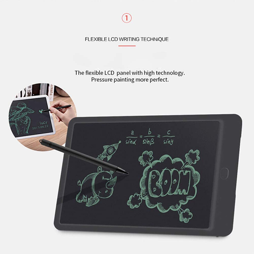 HAJZF LCD Writing Tablet 10 Inch Colorful Digital Ewriter Electronic Graphics Tablet Children LCD Writing Board Painting Graffiti Smart Small Blackboard with Memory Lock