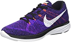 3dfba0410b49f Nike Mens Flyknit Lunar3 Running Shoe(Black White-…