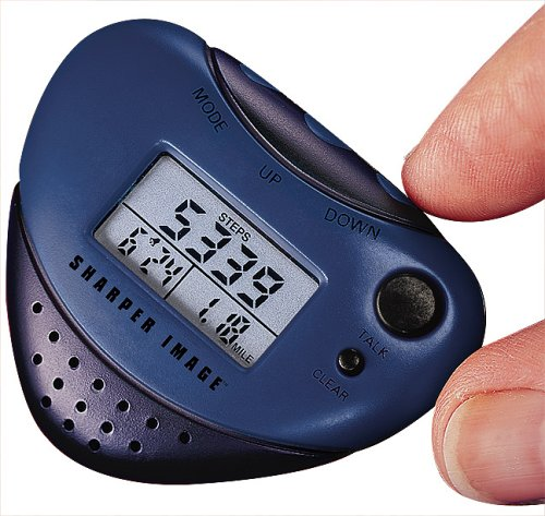 (Sharper Image Talking Pedometer with Music and Clock (EB300))