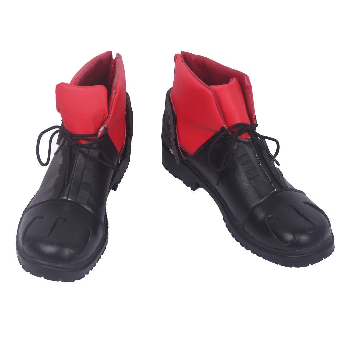 Marrol My Hero Academia Midoriya Izuku New Shoes Deku Black-red Fighting Boots Cosplay Halloween