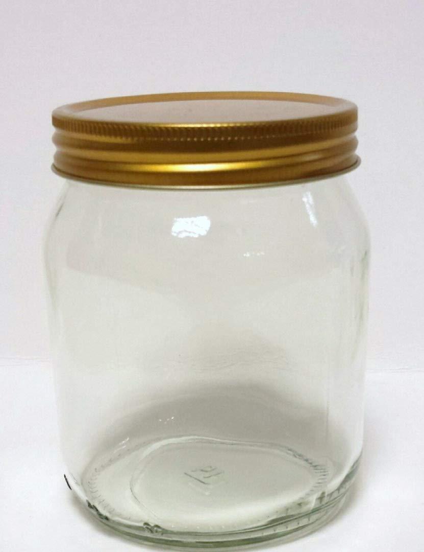 1lb (345ml) STANDARD HONEY JAR WITH GOLD LIDS (144) Jars Direct