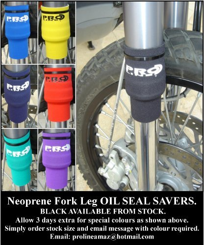 Proline Neoprene Fork Leg Oil Seal Saver Gaiters , 30Mm Size, Color :Black by Prolineonline (Image #2)