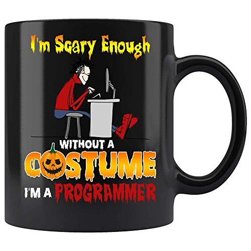 The Primal Matriarch Scary Halloween Coffee Mug Computer Programmer Costume Coffee Mug Ceramic (Black, 11 OZ)]()