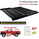 RAFTUDRIVE Assembly Lock Tri-Fold Tonneau Cover fit 2016-2018 Toyota Tacoma 6 ft (73.5 inch) Bed, Not Fit 5 Ft Bed