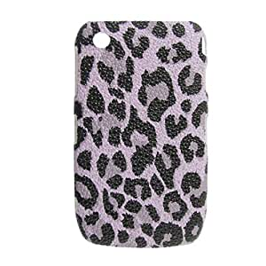 Caso de la contraportada del teléfono Patrón de plástico duro Negro leopardo para la curva 8520