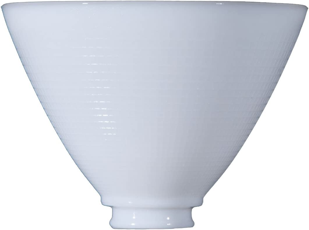 B P Lamp 8 Inch I.E.S Opal Reflector Shade for Floor Lamps