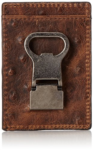 Clip Money Ostrich - Nocona Belt Co. Double Money Clip Ostrich, Brown