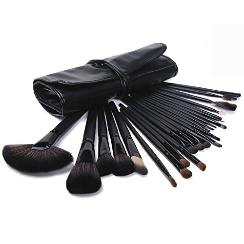 Price comparison product image 24 Piece Ultimate Makeup Brush Tool Set with Vegan Travel Bag