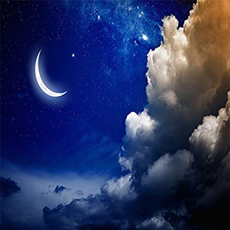 Lhdlily High Definition 3d Fantasy Night Sky Moon Cloud S 3d