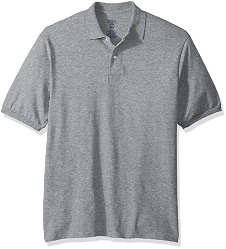 (Jerzees Men's Spot Shield Short Sleeve Polo Sport Shirt, Oxford, Large)