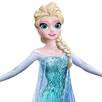 Disney FROZEN Elsa the Snow Queen with Swarovski Crystals Let It Go Figurine by The Hamilton Collection