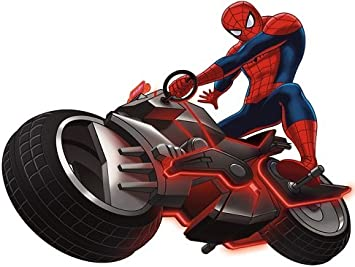 Amazon Com 9 Ultimate Spiderman Motorcycle Spider Cycle Bike Man