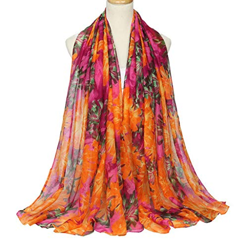 ROBAG Women Cotton Scarf Shawl Autumn Winter Vintage Joker Balinese Silk Warm Beach Towel 4 Pack C 180x90cm (Balinese Hat)