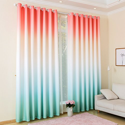 Kinlo Colorful Window Curtain Thermal Insulated Blackout Win