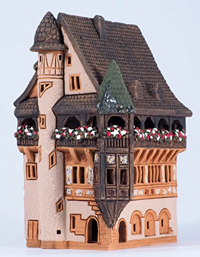 Handmade ceramic aroma candle house by Midene Art Studio, House Pfister in Colmar, France (Small) House Incense