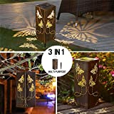 2 Pack Solar Lantern Lights Outdoor Butterfly