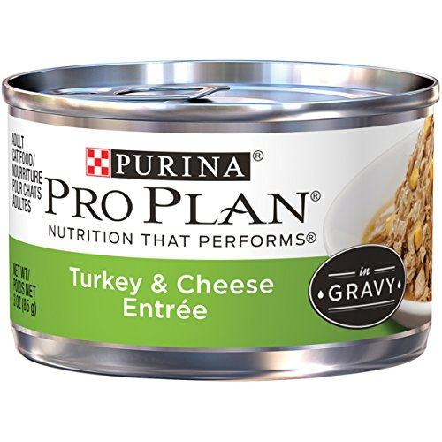 Purina Pro Plan Gravy Wet Cat Food; Turkey & Cheese Entree - 3 oz. Pull-Top Can