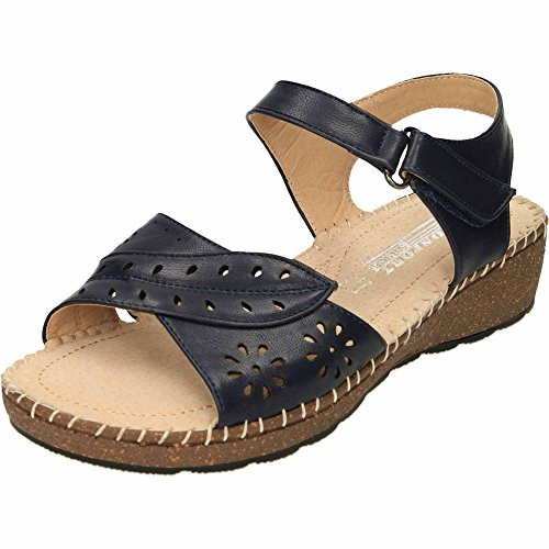 JWF Open Toe Slingback Wedge Sandals Navy GCI8IZ0Kr8