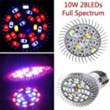 Gardening Growing Lamps - 10W Full Spectrum SMD5730 LED Grow Bulb Greenhouse Hydroponics Plant Seedling Lamp