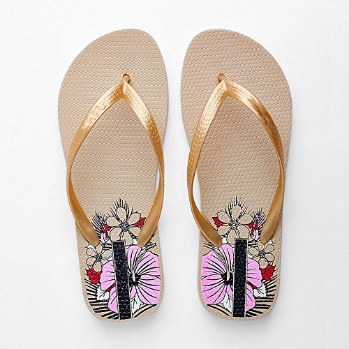 Sandals Ladies Flip Summer Women Slippers Beach Woman Shoes ZHOUZJ Flops Outside Yellow Tg1Wvq0