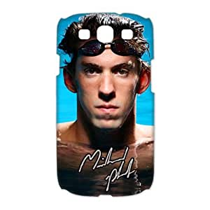 Customize World swimming champion Michael Phelps black plastic Case Fits and Protect 3D Samsung Galaxy S3 I9300 at luckhappy123 store