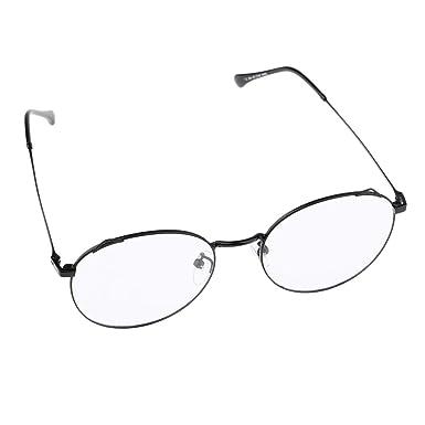 48ad784b4f P Prettyia Women Metal Circle Eyeglasses Fashion Full Rim Round Thin Frame  Glasses - Black