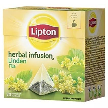 Lipton Linden (Infusión de hierbas) – 20 bolsas de té x ...