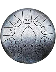Steel Tongue Drum 12 inch, 11 Note Tongue Drum, Handpan Drum, Hand Drum, Percussion Instrument with Drum Mallets Carry Bag Note Sticks for Meditation Yoga Zazen Sound Healing