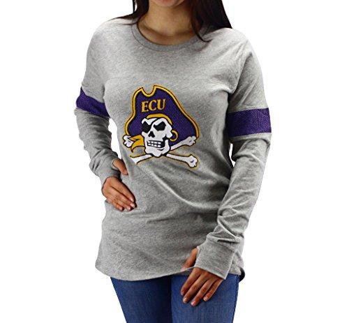 Pressbox Women' s Juniors NCAA ECU East Carolina Pirates Long Sleeve Shirt (Pirate Apparel)