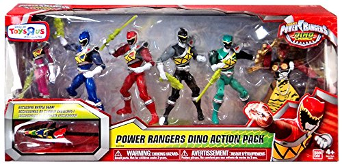 """Power Rangers Dino Charge Dino Action Pack 6"""" Action Figure Set"""
