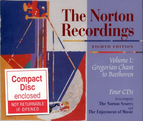 The Norton Recordings Volume I: Gregorian Chant to Beethoven Four CD Set ()