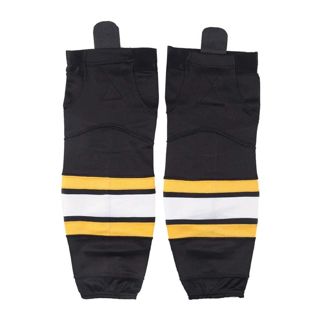 COLDINDOOR Kids Hockey Socks Black, Boys Dry-fit School Practice Ice Hockey Socks XS by COLDINDOOR