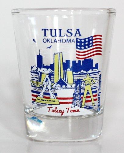 Tulsa Oklahoma Great American Cities Collection Shot - City Oklahoma Glasses