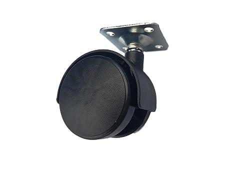 (100 unidades) 50 mm plástico rueda giratoria doble Ruedas Placa superior de metal muebles